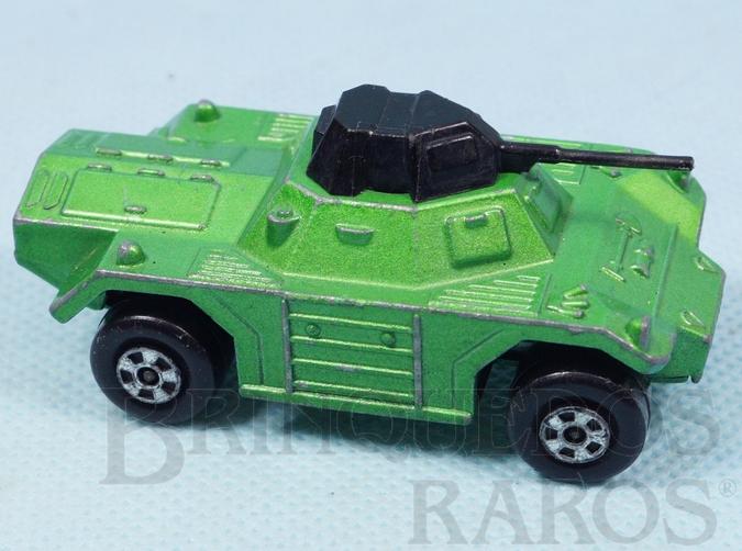 Brinquedo antigo Weasel Rola-Matics verde metálico