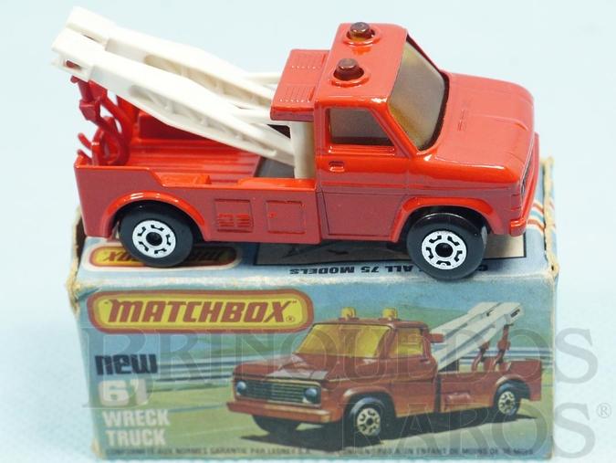 Brinquedo antigo Wreck Truck Superfast vermelho