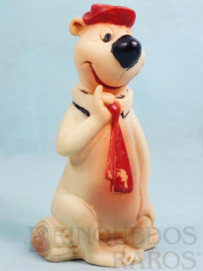 Brinquedo antigo Zé Colmeia com Apito 14,00 cm de altura Hanna Barbera Ano 1962
