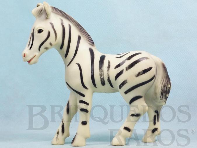 Brinquedo antigo Zebra com 18,00 cm de comprimento Década de 1970