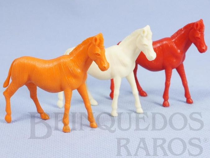 Brinquedo antigo Zebra diversas cores Série Zoológico década de 1970 Preço por unidade