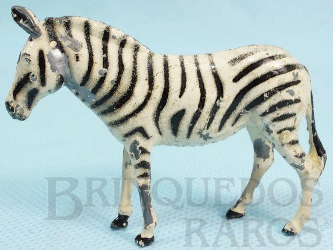 Brinquedo antigo Zebra Zoo Série Década de 1950